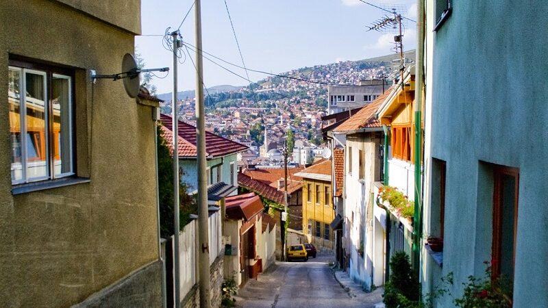 Sarajevo, Bosnien und Herzegowina, Balkan, Straße