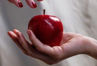 Apfel, roter Apfel, vergifteter Apfel, toxisches Verhalten, toxische Menschen