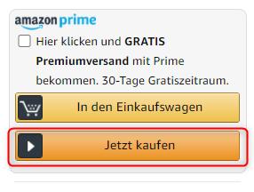 Buy Box Amazon, Jetzt kaufen, E-Commerce