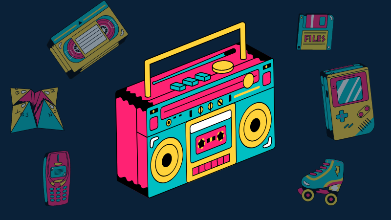 Nostalgie, Retro-Charme, Retro, Nostalgie-Serie, 56-Modem, Gameboy Color, Diskette, Kassetten, Walkman