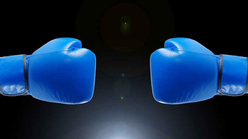 Boxhandschuhe, Boxen, Wettkampf, Duell, Venture Debt vs. Venture Capital