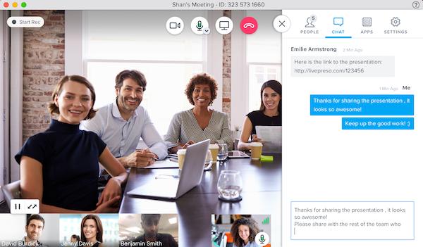 Chat-Funktion effektivere Webinare