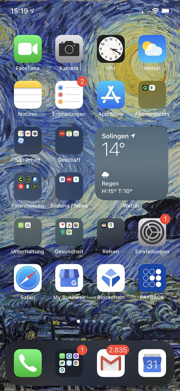 Homescreen, iPhone, Apple, IOS, Apps, Christos Papadopoulos, AWEOS, Aweos, Digitalagentur