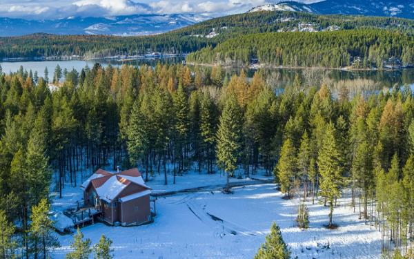Montana, Haus, Ranch, USA