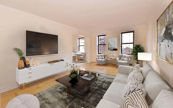Wohnzimmer, Wohnung, New York City, USA