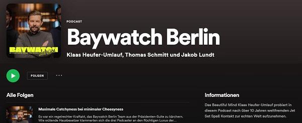 Baywatch Berlin, Klaas Heufer-Umlauf, beliebteste Podcasts in Deutschland