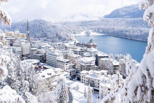 St. Moriz, Schnee, Schneegebiet, Winter