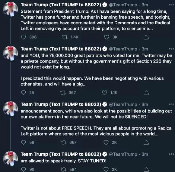 Twitter, Trump, POTUS