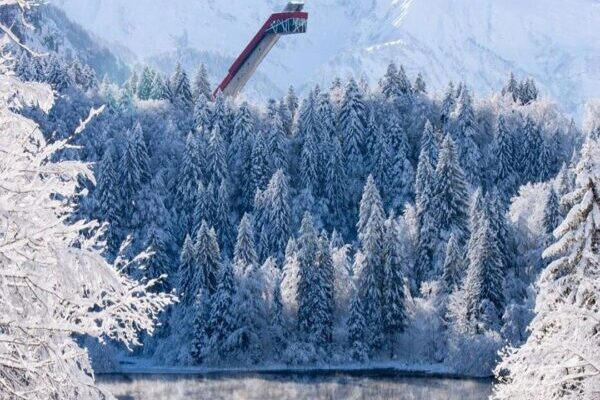 Oberstdorf, Winter, See, Wald, Natur