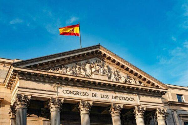 Spanien, Flagge, Gebäude