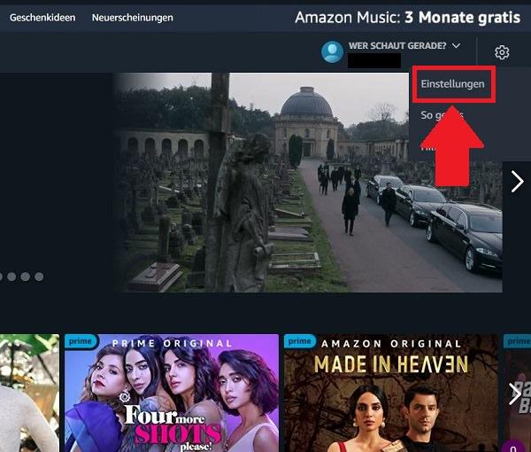 Amazon Prime Video Watchlist finden, Amazon-Watchlist finden, Amazon-Watchlist löschen
