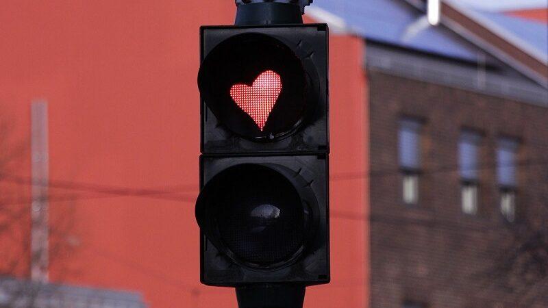 Herz, Glück, Ampel, Verkehr, Positive Design