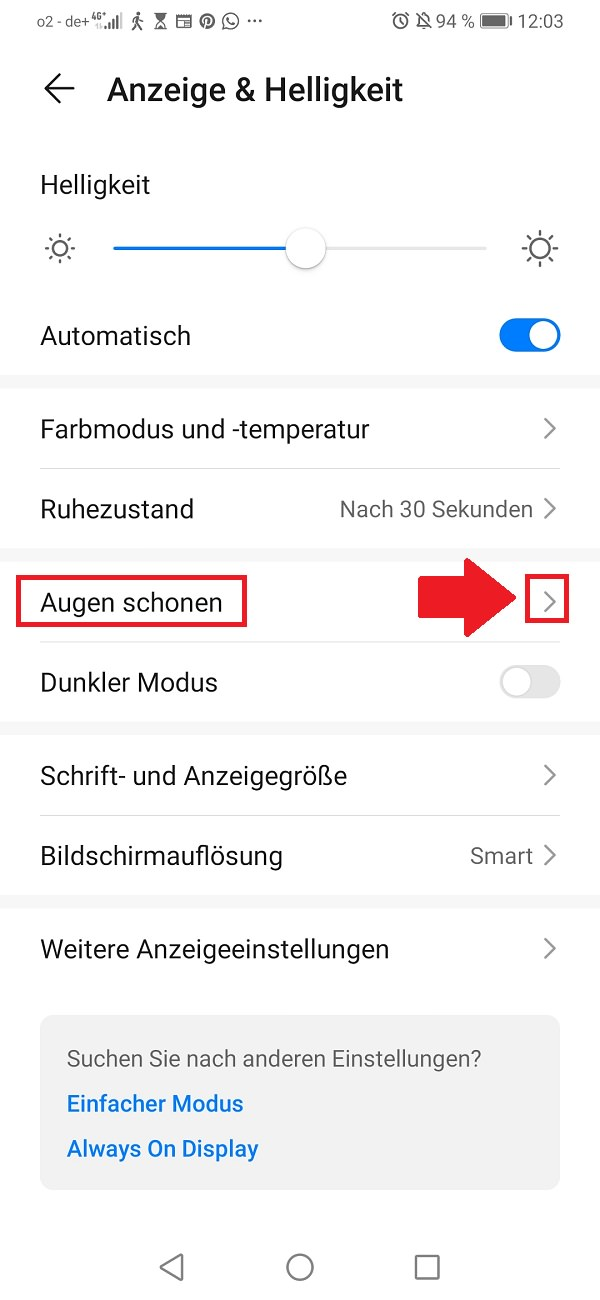 Android-Nachtmodus aktivieren, Android Nachtmodus aktivieren, Android Blaulichtfilter aktivieren