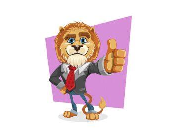 Löwe, Anzug, Daumen hoch, Thumbs up, Charaktereigenschaften