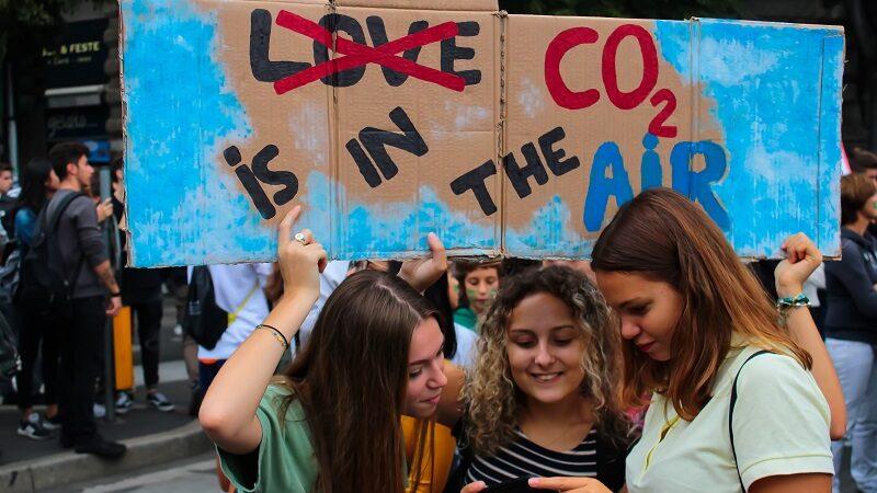 CO2, Plakat, Klimaproteste, Fridays for Future, Emissionen