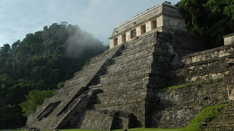 Maya, Ruine, Pyramide, Mexiko