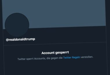 Twitter Trump realDonaldTrump Account Sperrung
