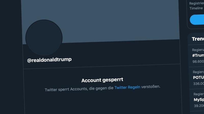 Twitter Trump realDonaldTrump Account Sperrung