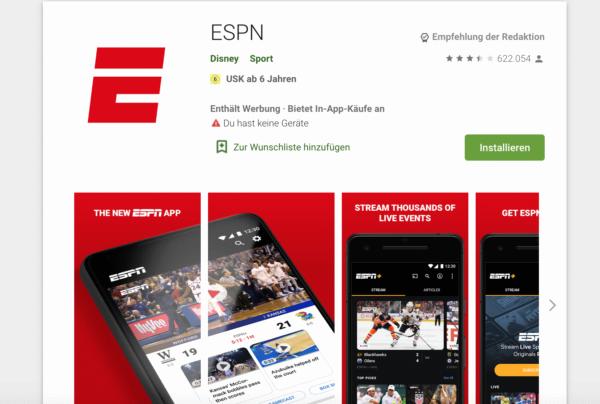 ESPN, App