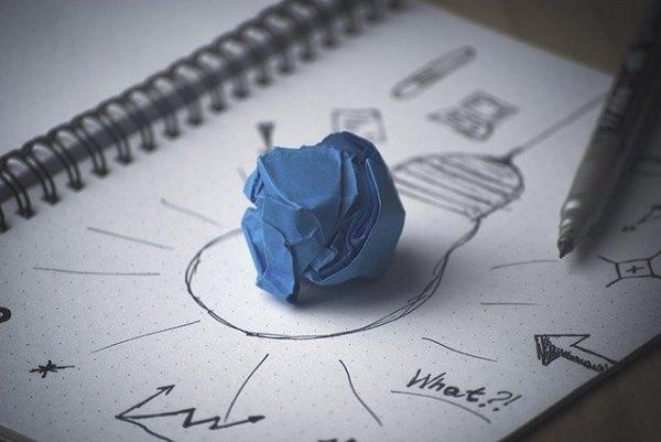 Idee, Müll, Papier, Erfindung, Scheitern, Zitate von Jeff Bezos