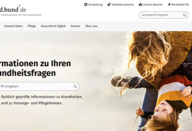 Gesundheitsministerium, Gesundheitsportal, gesund.bund.de, Google