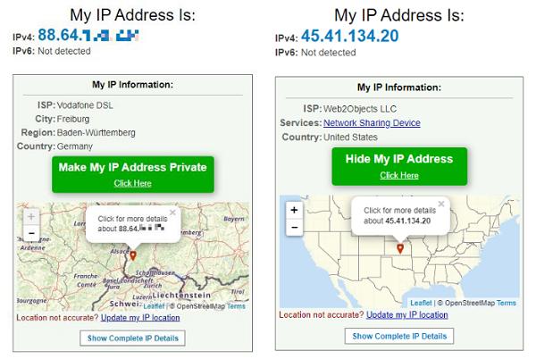 VPN für Privatanwender, VPN-Dienste