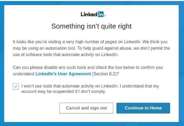 LinkedIn, LinkedIn Jail, LinkedIn Gefängnis