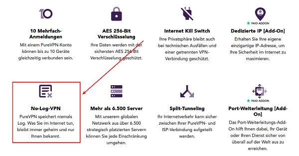 PureVPN, VPN für Privatanwender