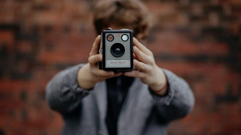 Foto, Kamera, Alt, Retro, 90er Style