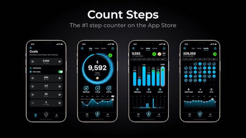 StepsApp Smartphone Schrittzähler