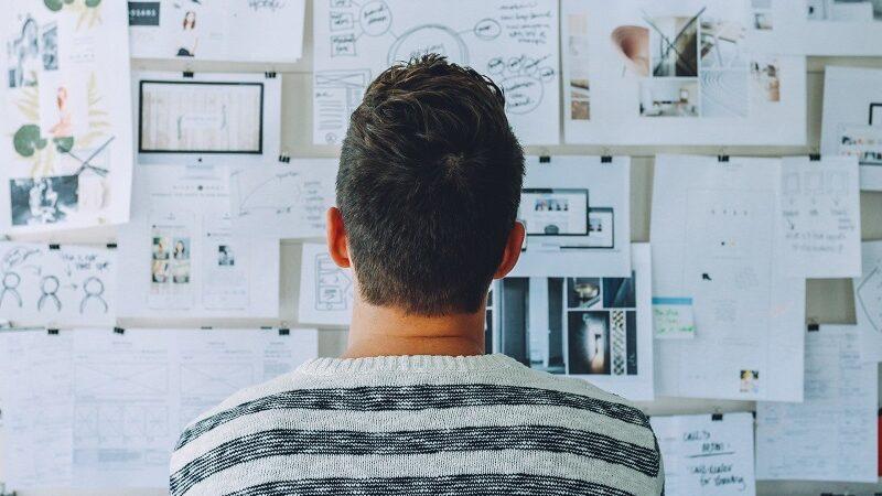 Whiteboard, Start-up, Gründung, Mann