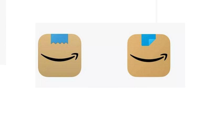 Amazon Logo, Amazon App, Amazon-App, Amazon Hitler-Bart, grinsender Hitler