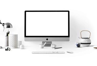 Schreibtisch, Apple, Home Office
