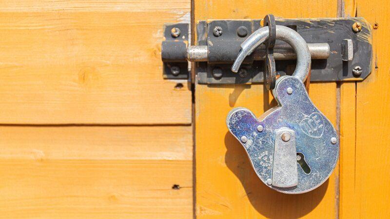 Schloss, Riegel, Datenschutz