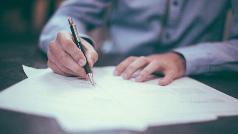 Bewerbung, Vertrag, Job, Unterzeichnung, Antworten im Job-Interview