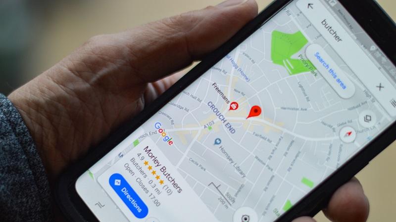 Google Maps, Karte, Smartphone, Navigation