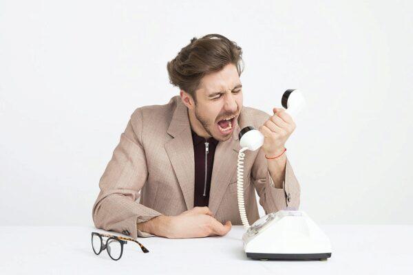 Telefon, Schrei, Mann, Wütend