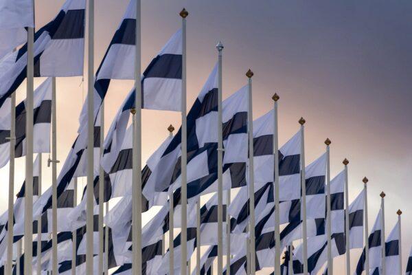 Finnland, Helsinki, Flaggen