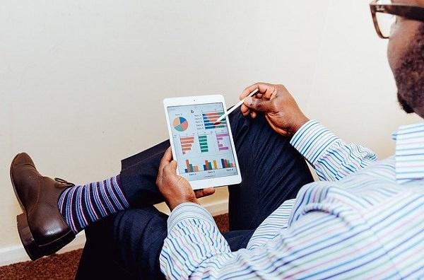 Tablet, Business, Analyse, Analytics, Grafiken, Tablet