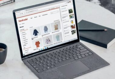 Online-Shopping, Laptop, Microsoft Edge, Shop, Gewinner der Corona-Krise