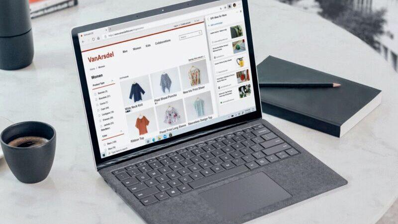 Online-Shopping, Laptop, Microsoft Edge, Shop, Gewinner der Corona-Krise