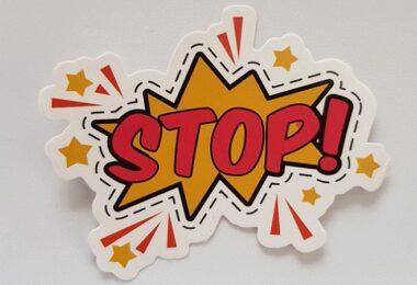 Stop, Halt, Warnung, Warnsignal, schlechte Geschäftsideen