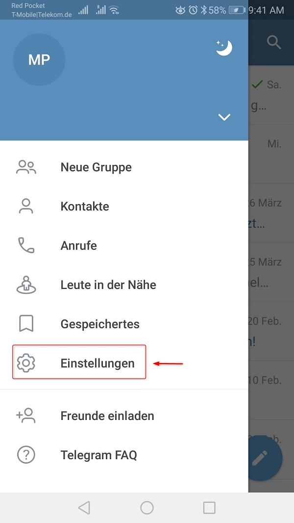 Telegram-Proxy aktivieren, Telegram Proxy Server einrichten