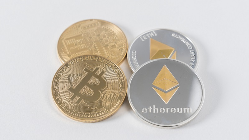 Bitcoin, Bitcoin Münze, Ethereum, Konsensmodell Kryptowährung