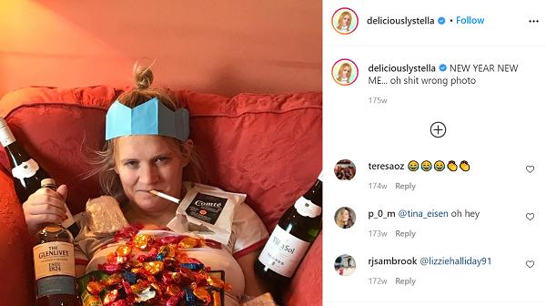 Deliciously Stella, Instagram, Instagram-Sucht