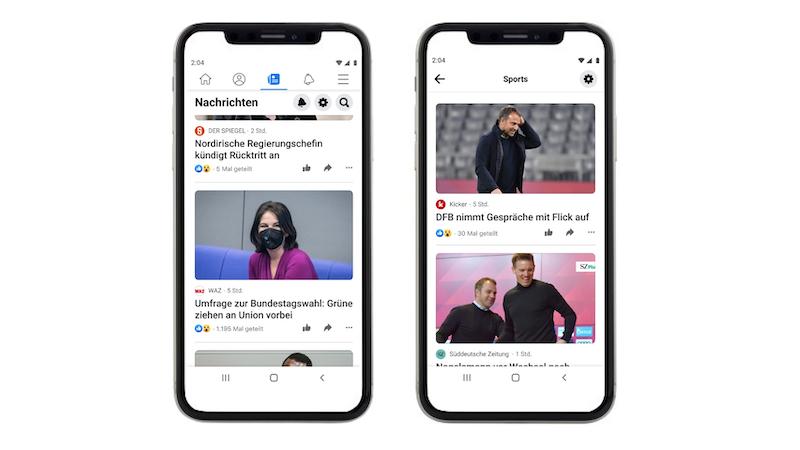 Facebook, Facebook News, Axel Springer