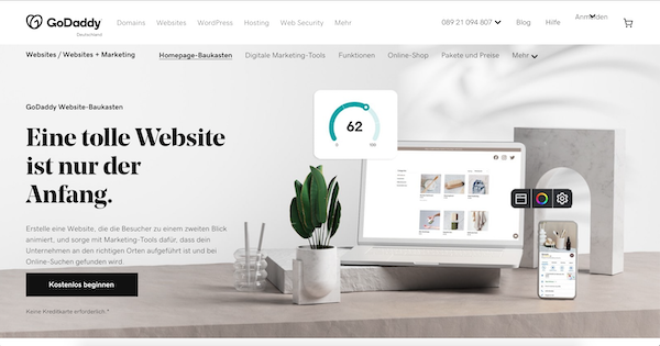 GoDaddy Website Baukasteb
