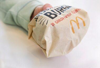 Graspapier, McDonalds, Burger