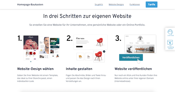 Homepage-Baukasten IONOS Website erstellen