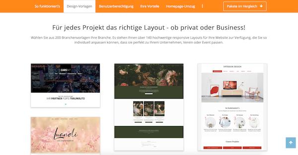STRATO Homepage Baukasten Vergleich Anbieter